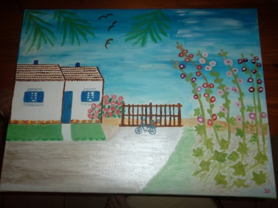 TABLEAU PEINTURE Paysages Peinture a l'huile  - Ile de Ré