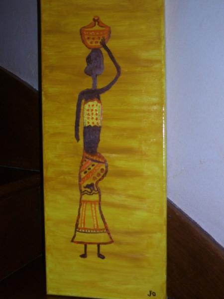TABLEAU PEINTURE Personnages Peinture a l'huile  - L'AFRICAINE