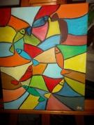 tableau abstrait : VITRAUX DE SETE