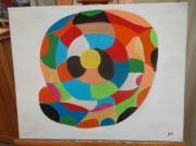 tableau abstrait : SPIRALE DE VIE