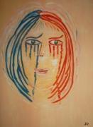 tableau personnages : MARIANNE EN PLEURS suite aux attentats