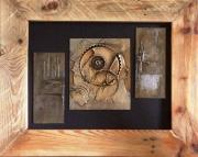 tableau abstrait engrenage matiere contemporain relief : Fracture #2