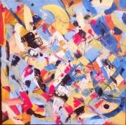 """tableau abstrait abstraction matieres taches gestuel : """" Lune de Papier"""""""