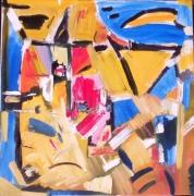 "tableau abstrait abstraction matieres taches gestuel : "" MEDITERRANEE"""