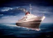 tableau marine andrea doria marine paquebot peinture : Paquebot Andrea Doria
