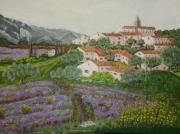 tableau paysages moustic lana gordi tutu : village de  provence