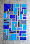 tableau abstrait vitrail resine sables d olonne vendee : Vitrail 2
