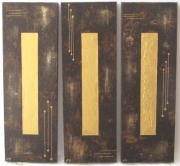 tableau abstrait triptyque or sables d olonne vendee : Lingots