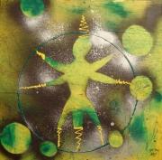 tableau abstrait paix hebreu gay arabe : Leo le Jongleur