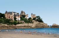 plage de Dinard et villas