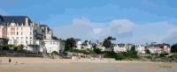 panorama plage de Saint-Lunaire