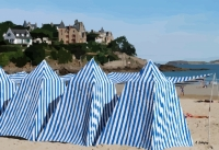 tentes sur la plage de Dinard