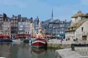 tableau villes honfleur port normandie : port d'Honfleur