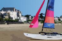 catamaran à Saint-Lunaire