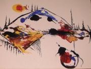 tableau paysages langdonart paintings exhibition galerie le 1040 : Langdonart peinture Tortue 1v