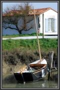 photo marine ile de re bateaux : la barque noire