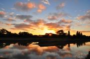 photo paysages aube marais : miroir d'aube