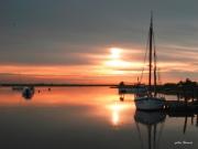 photo paysages aube bateaux ports : couleurs de Sèvre