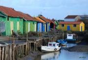 photo marine cabanes couleurs ports : cabanes de Château d'Oléron