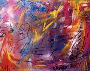 tableau abstrait couleur sonorite mystere jaune : Les sonorités du tam-tam