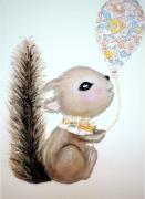 tableau animaux ecureuil liberty enfant tableau enfant : bébé écureuil Liberty tableau enfant