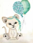 tableau animaux lion liberty bebe enfant : Bébé LION Liberty