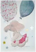 tableau animaux elephant liberty chambre enfant mignonnerie : bébé éléphante Liberty tableau enfant