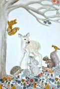 tableau animaux forËt bebe enfant liberty : ANIMAUX DE LA FORET LIBERTY