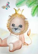 tableau animaux lion liberty bebe enfant : LEO le lion liberty tableau bébé enfant