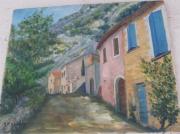 tableau paysages : village de  provence