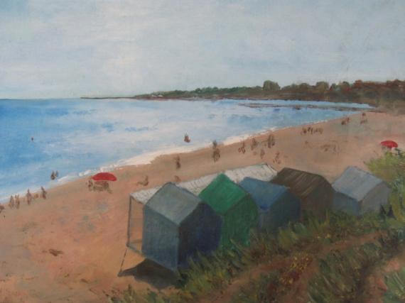 TABLEAU PEINTURE Marine Peinture a l'huile  - cabines
