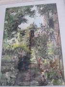 tableau paysages : l'allée  du jardin