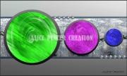 tableau abstrait ronds couleurs perles tableau : Circles Colors