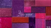 art numerique abstrait carre violet poster tableau : La valse des violets