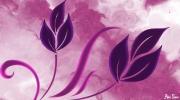 art numerique fleurs fleurs toile poster violet : Flowers