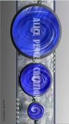 tableau abstrait ronds bleus perles tableau : Circles Colors