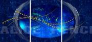 tableau abstrait univers ciel etoiles bleu : Universe