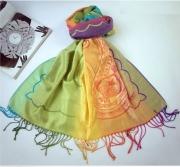art textile mode abstrait pareo echarpe bali multicolore : Tendance été 2014 / Très joli Paréo multicolore en fibre style P