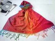 art textile mode autres pareo echarpe rouge bali : Tendance été 2014 / Très joli Paréo multicolore en fibre style P