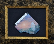 tableau paysages piano horloge mer surrealisme : Éternité et un autre jour