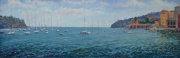 tableau marine mer golf etude bord de mer : Golf de Villefranche