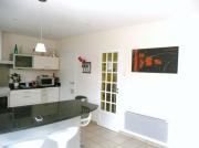 tableau abstrait gris orange : L ORANGERAIE