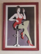 tableau personnages femme : femme et son verre de vin