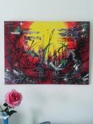 tableau abstrait abstrait contemporain moderne : Dream Colorfully