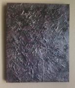 tableau abstrait abstrait contemporain relief matiere : Morceau de Lune