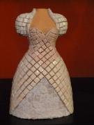 artisanat dart personnages : la mariee en cours