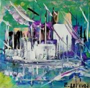 tableau autres abstrait art contemp abstrait marine art du paysage moder art original peintur : Cité de la voile TABARLY Lorient