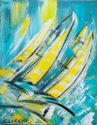 tableau marine marine voile mer oce regate abstrait coul moderne tendance lum contemporain edwige : Marine j.