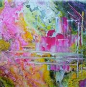tableau autres abstrait art contemp abstrait marine cont art du paysage moder art original peintur : Cité de la voile Tabarly (abst. Rose)