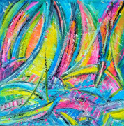 "tableau marine marines voiles regates huile edwige lefevre abstrait marines abstrait voiles abstrait regates : ""p'tite pom"" vendue"